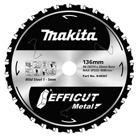 MAKITA  EFFICUT TCT  METAL 136mm x 30T