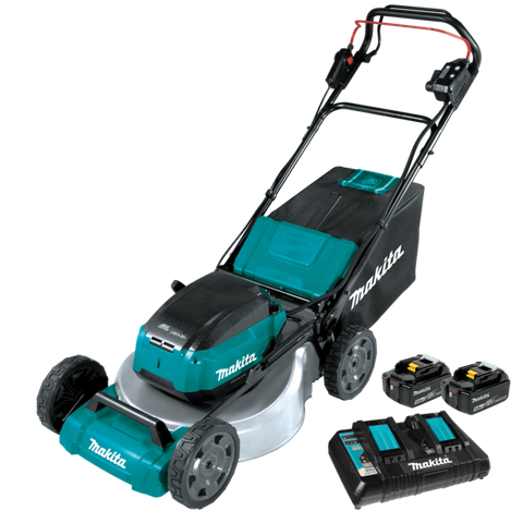 "MAKITA 18VX2 BRUSHLESS 530MM 21"" METAL DECK SELF-PROPELLED LAWN MOWER 5AH KIT"