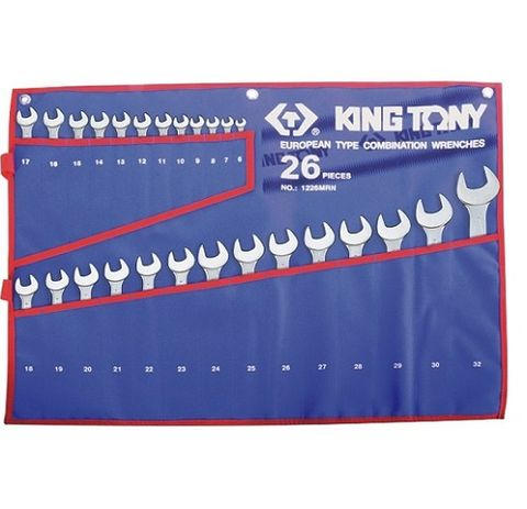 KING TONY 26PC R/OE WRENCH SET TET POUCH 6-32MM