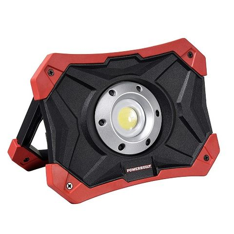 POWERBUILT LED RECHARGEABLE WORK LIGHT WITH POWER BANK