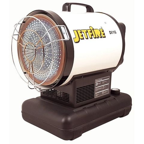 JETFIRE INDUSTRIAL RADIANT FAN FORCED DIESEL HEATER 16KW