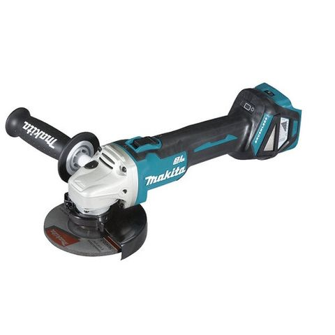 "MAKITA 18V LXT BRUSHLESS AWS 125 MM (5"") VARIABLE SPEED SLIDE SWITCH ANGLE GRIND"