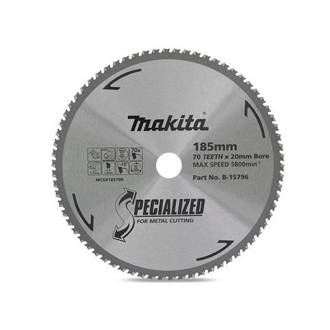 MAKITA SPECIALIZED METAL 185MM 70T SAW BLADE