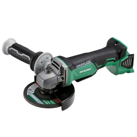 HIKOKI 18V BRUSHLESS 125MM SAFETY ANGLE GRINDER (PADDLE SWITCH) - BARE TOOL