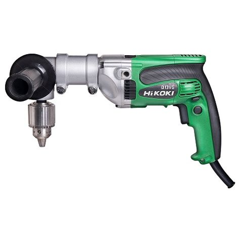 HIKOKI 13MM HEAVY DUTY TRIPLE REDUCTION DRILL WITH ANGLE ATTACHMENT