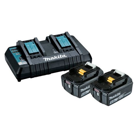 MAKITA 18V 5.0AH LXT CORDLESS BATTERY KIT