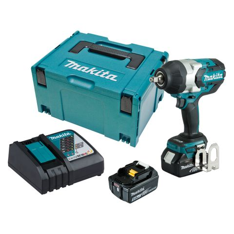 "MAKITA 18V CORDLESS BRUSHLESS 1/2"" IMPACT WRENCH KIT"