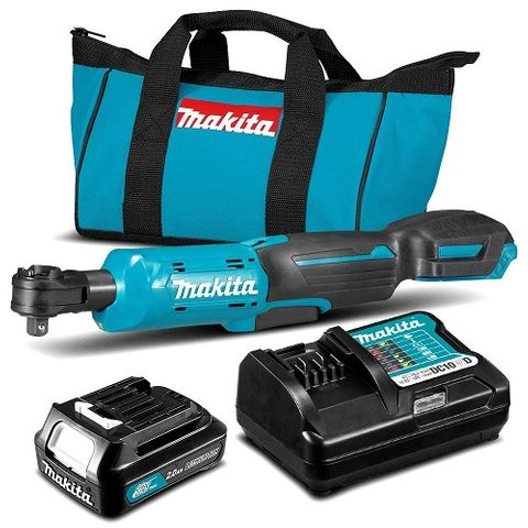 "MAKITA 12V MAX CXT CORDLESS 3/8""-1/4"" RATCHET WRENCH KIT"