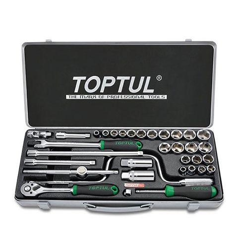 TOPTUL 3/8DR 34PC SOCKET SET