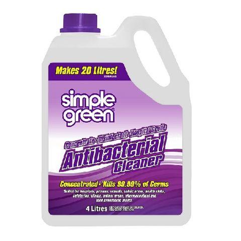 SIMPLE GREEN® ANTIBACTERIAL CLEANER HOSPITAL GRADE 4L