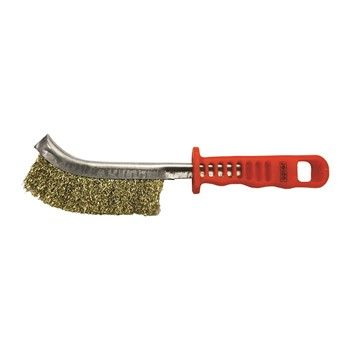 JOSCO BRUSH HAND CR BRASS  PLASTIC HANDLE