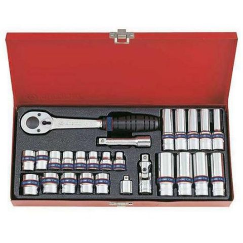 KING TONY 26PC 3/8DR 12 POINT SOCKET SET