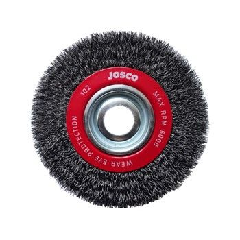 JOSCO BRUSH WHEEL CR 150X25XMB 0.35MM