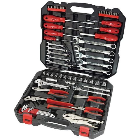 "POWERBUILT 3/8"" DR 74PC METRIC TOOL SET"