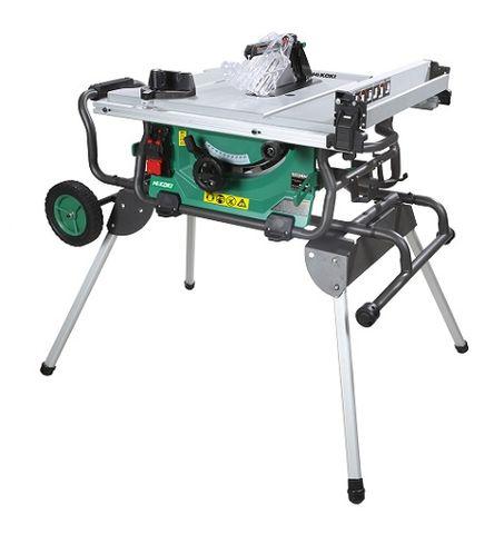 HIKOKI 250mm  WORKSITE TABLE SAW c/w Stand +Wheels
