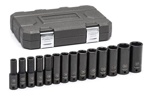 "GEARWRENCH 14 PC. 1/2"" DRIVE 6 POINT DEEP IMPACT METRIC SOCKET SET"