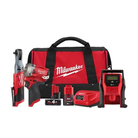MILWAUKEE M12 FUEL™ 3 PIECE POWER PACK 3Q