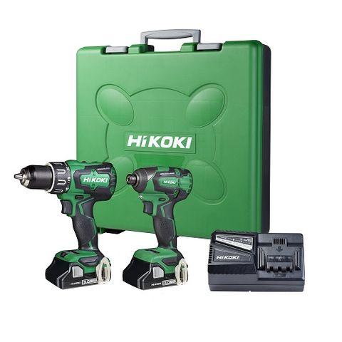 HIKOKI 18V IMPACT DRILL & IMPACT DRIVER + 2 x 1.5Ah Kit