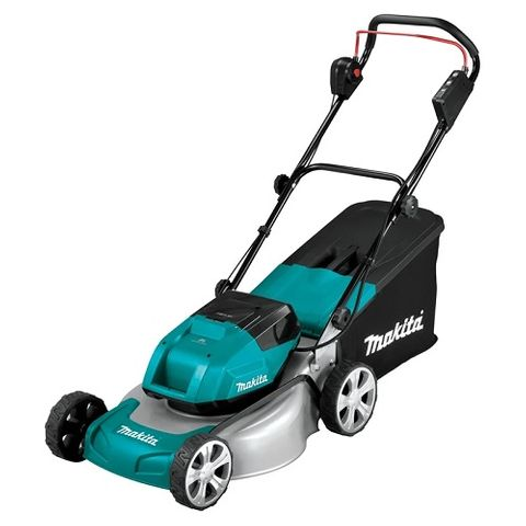 "MAKITA 18VX2 (36V) BRUSHLESS 460MM 18"" METAL DECK SELF-PROPELLED LAWN MOWER"