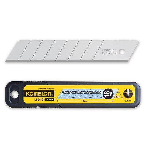 KOMELON SNAP OFF BLADES 18mm - PKT 10