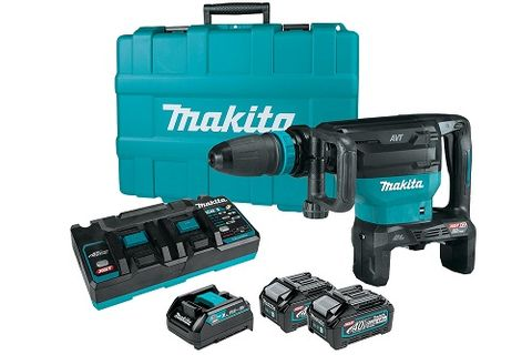 MAKITA 40VMAXX2 (80V) XGT BRUSHLESS 18MM AWS™ DEMOLITION HAMMER, SDS-MAX  KIT