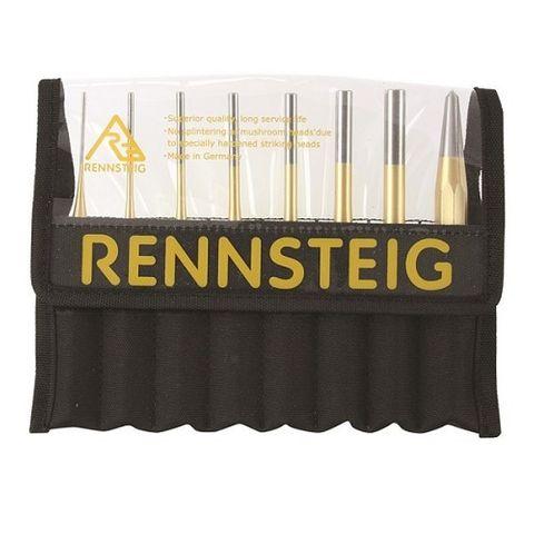 RENNSTEIG CENTRE & PARRELL PIN PUNCH SET 8 PCE