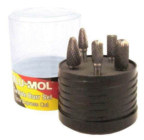 BLU-MOL 5PC BURR SET 6mm SHANK