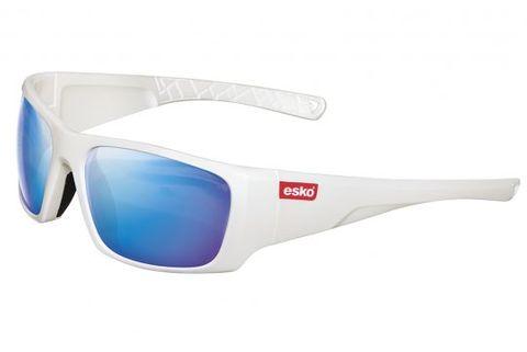 ESKO HAWAII SAFETY GLASSES Blue Mirror Lens White Frame