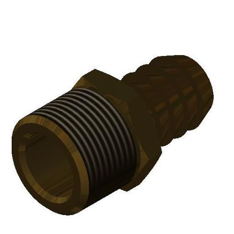 """Water Control Board - Hose Tail 3/4"""" x 3/4"""" Brass"""
