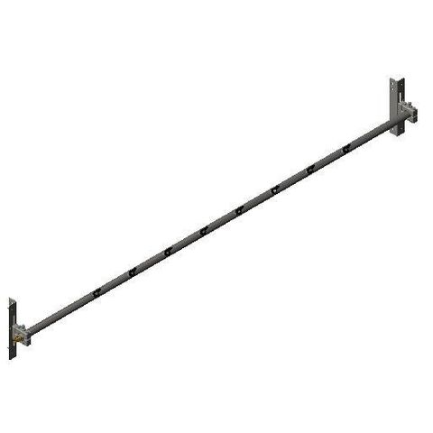 Cleaner TUFF Spray Bar 2400 3300 long x 48 Dia with P Mounts