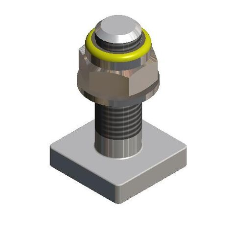 Bolt Square Head M16 x 50  c/w Nyloc Nut and Washer