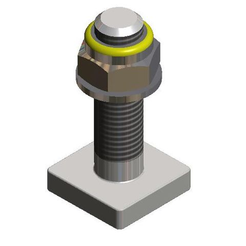 Bolt Square Head M16 x 60  c/w Nyloc Nut and Washer