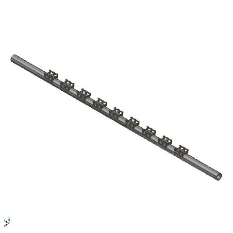 TUFF H Pole Retractable Reinforced 1800 BW c/w 1800 TW, 2650 Pole x 73 Dia