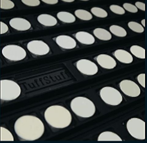 TUFF Lagging Ceramic Non Drive 12mm 1800 CW x 2200 OA