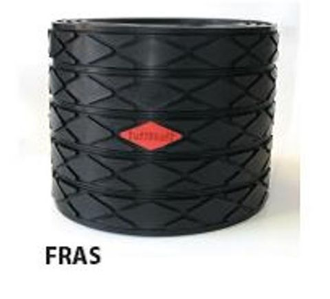 TUFF Lagging Rubber FRAS 10mm x 6.5m Roll Diamond Grooved