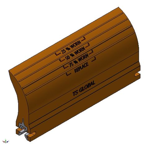 TUFF EP Blade Orange 0450 BW less 50mm c/w 0407 TW