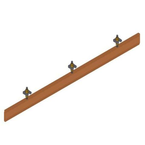 Skirt Board 1340mm c/w Mounting Hardware FRAS