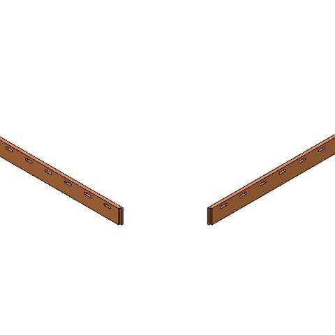 TUFF Vee Plough Torsion Blades 1800