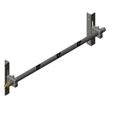 Cleaner TUFF Spray Bar 0900 1400 long x 48 Dia with P Mounts