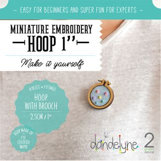 HOOPS WITH BROOCH
