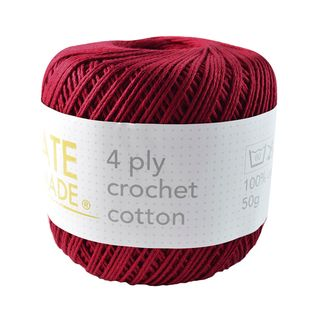 4PLY CROCHET COTTON MERLOT