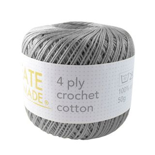 4PLY CROCHET COTTON SILVER