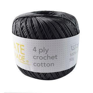 4PLY CROCHET COTTON CHARCOAL