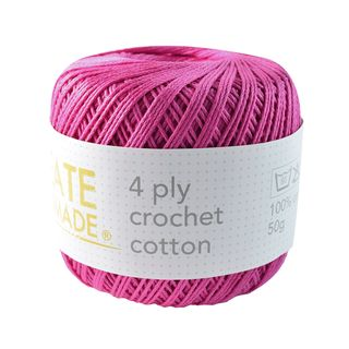 4PLY CROCHET COTTON HOT PINK