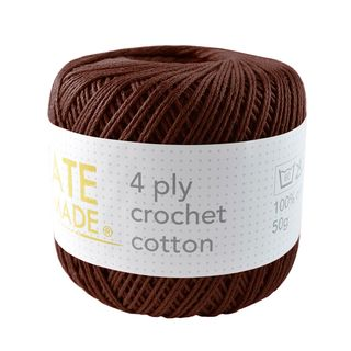4PLY CROCHET COTTON CHOCOLATE