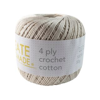 4PLY CROCHET COTTON ECRU