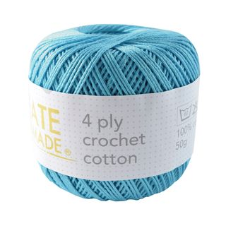 4PLY CROCHET COTTON TURQUOISE