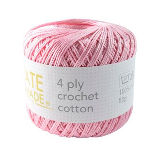 4PLY CROCHET COTTON CARNATION