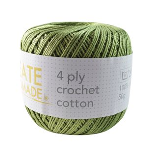 4PLY CROCHET COTTON OLIVE