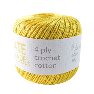 4PLY CROCHET COTTON YELLOW
